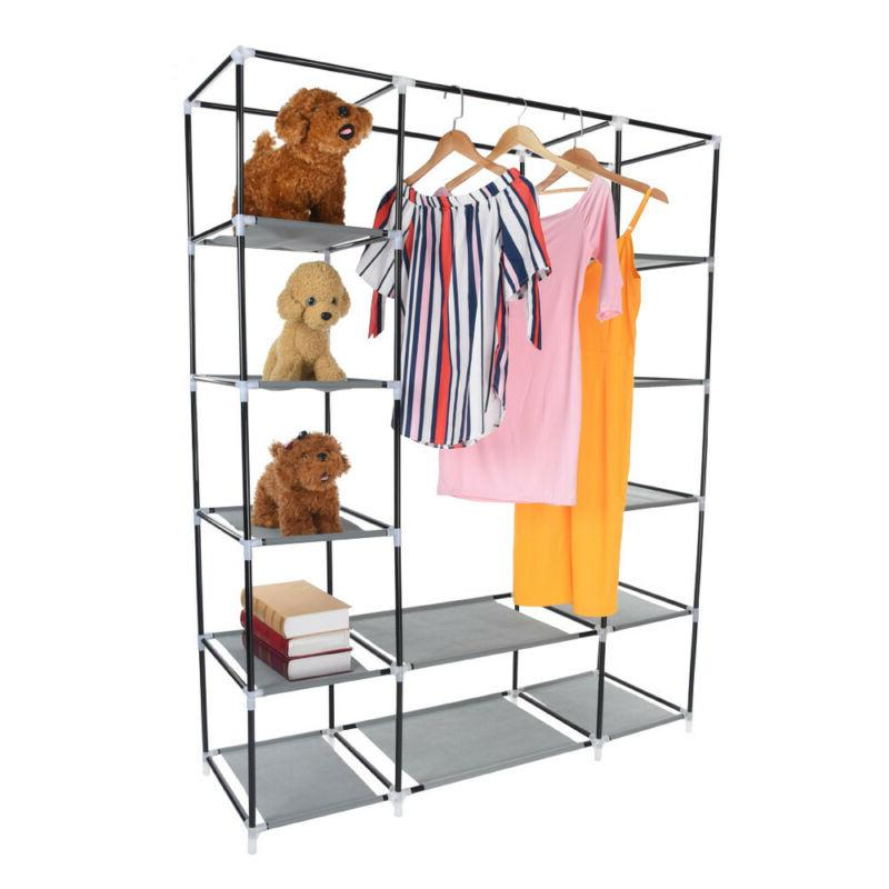 """69"""" Portable Storage Clothes Hanging Rack With"""