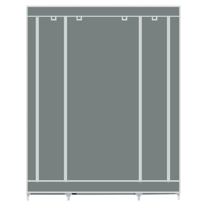 "69"" Portable Closet Storage Organizer Hanging Rack With Shelves"