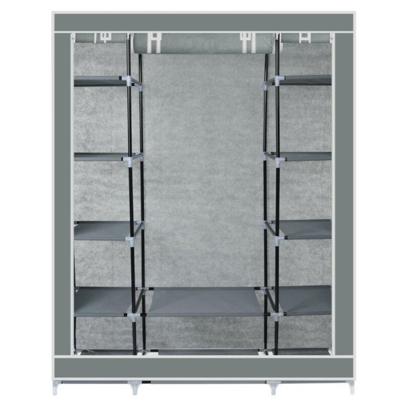 "69"" Portable Wardrobe Closet Storage Organizer Rack With Shelves"