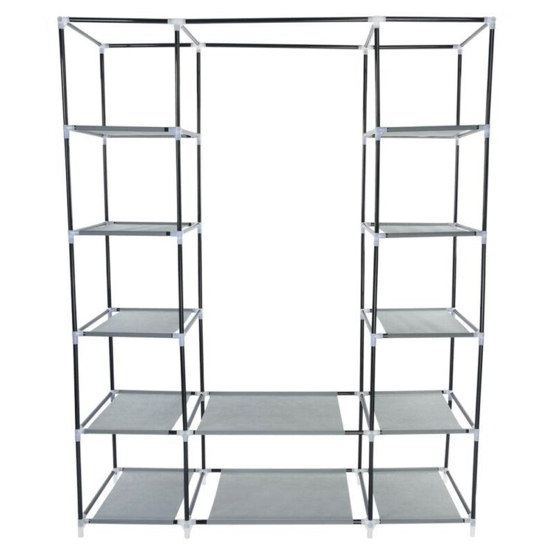 "69"" Portable Closet Storage Rack With"