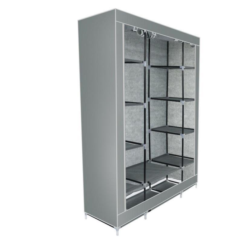 "69"" Portable Wardrobe Closet Storage Clothes Rack"