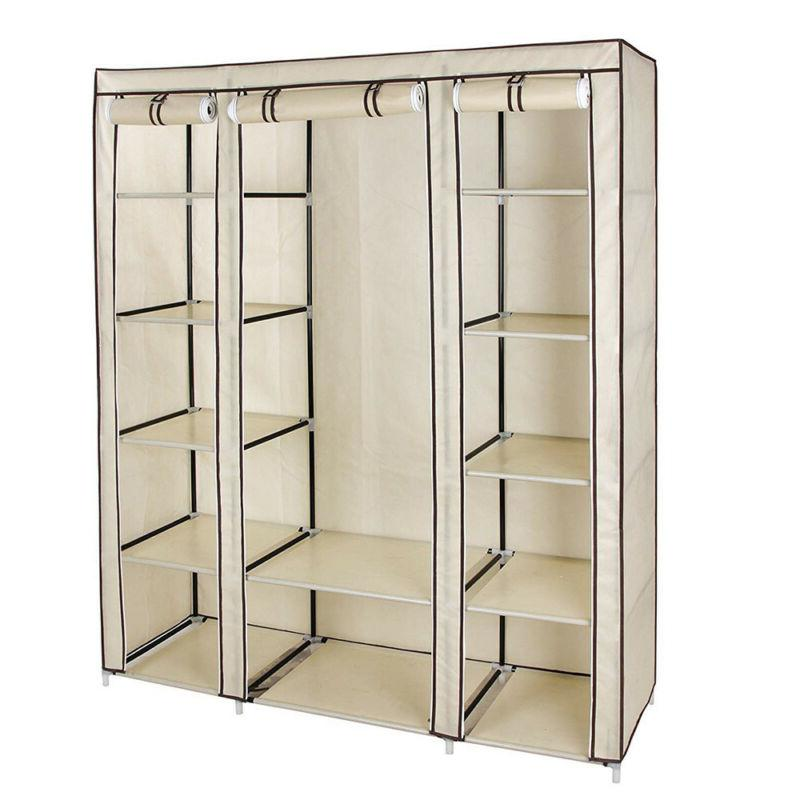 69 portable wardrobe closet storage organizer clothes