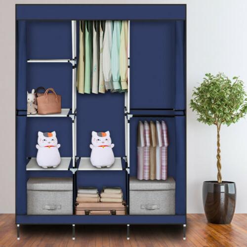 High Portable Closet Wardrobe Clothes Storage Organizer