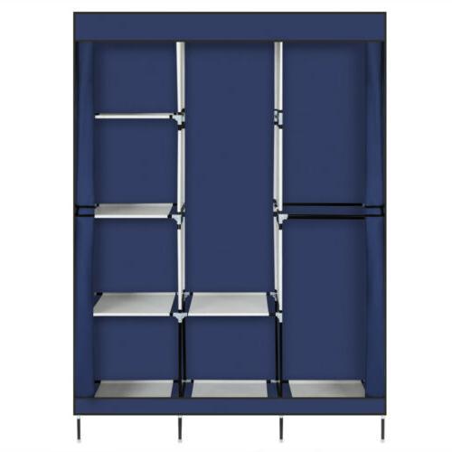 High Quality Portable Wardrobe Clothes Rack Organizer w/Shelf