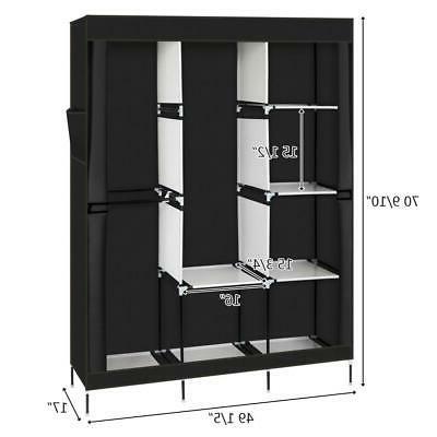 "71"" Closet Organizer Wardrobe Shelves"