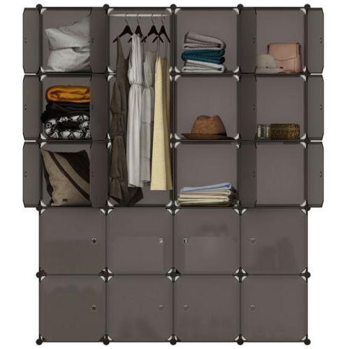 """86"""" Clothes Closet Organizer Shelf Rack Shelves"""