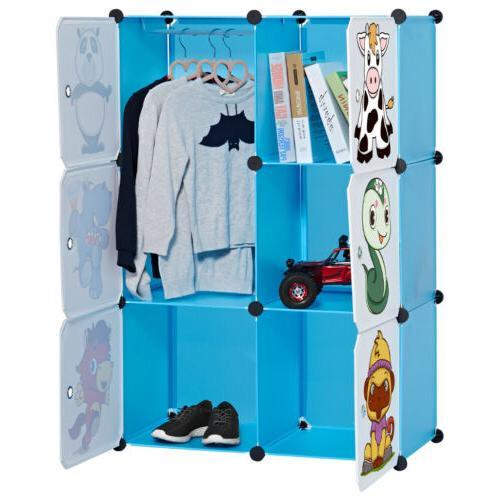 "86"" Closet Wardrobe Rack Shelves Fabric"
