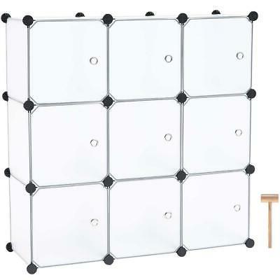 9 Cube Closet Wardrobe W/