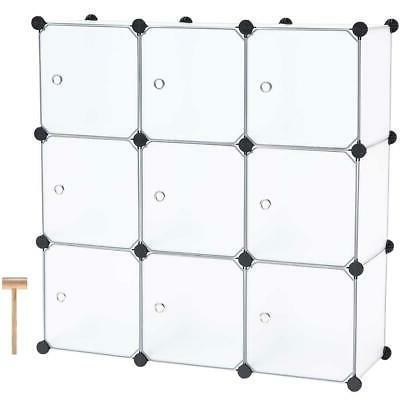 9 cube diy portable closet storage organizer