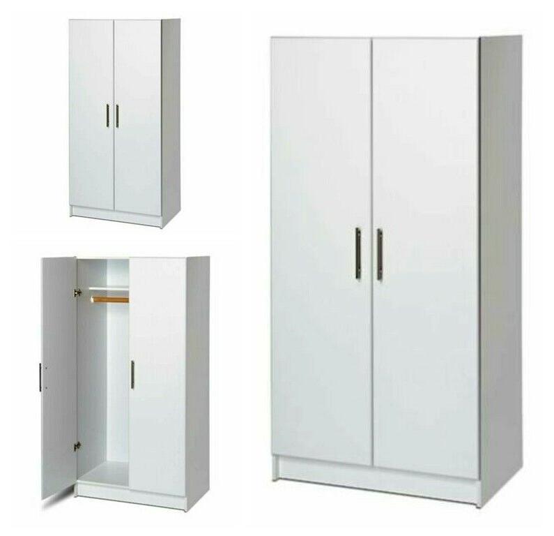 Wood Wardrobe Closet Bedroom Armoire Storage Cabinet Dresser