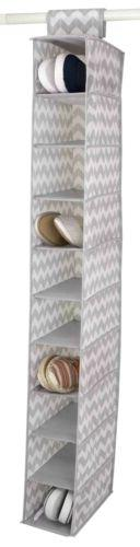 Home Basics Chevron 10 Shelf Closet Organizer