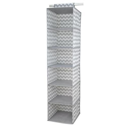 Home Basics Chevron 6 Shelf Organizer