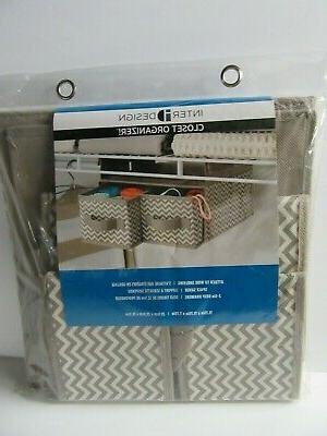 InterDesign Chevron Soft Closet Storage Hanging 2 Drawer Org