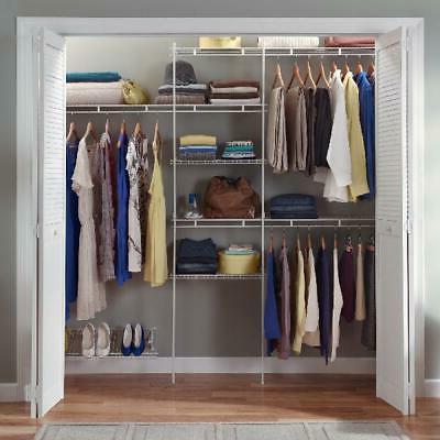 closet organizer kit storage shelf system clothes