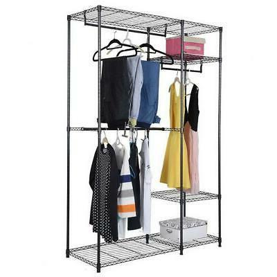 closet organizer kit shelving system clothes rack