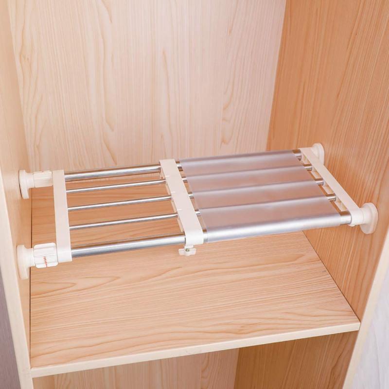 Hershii Rod Expandable Storage Rack Adjustable Orga