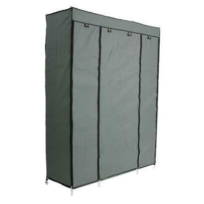 Closet Wardrobe Clothes Ample Shelves Gray