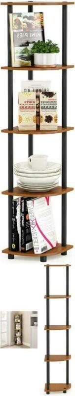 Corner Rack Display Shelf Bookcase Bathroom Closet 5 Tier Li