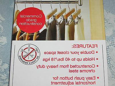 DOUBLE HANG Commercial Garment Rack, NEW