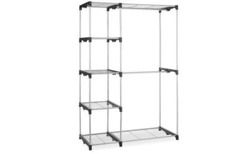 double rod freestanding closet