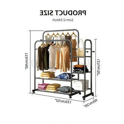 Double Rack Hanger Home Storage
