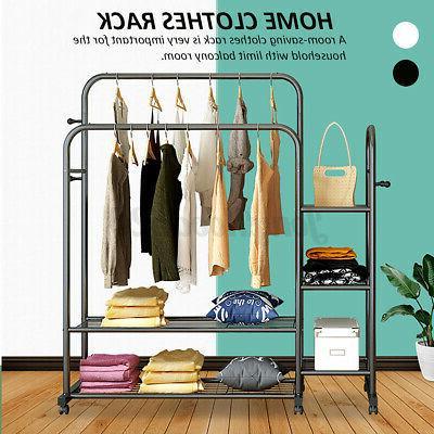 Double Rolling Garment Rack Hanger