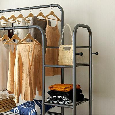 Double Rack Hanger Storage Organizer
