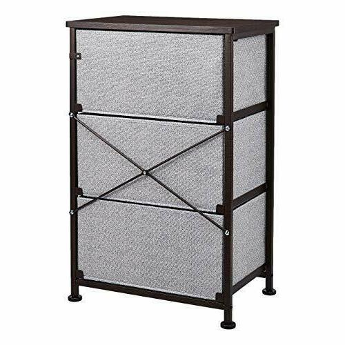Fabric 3-Drawer Storage Unit Closet,