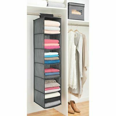 mDesign Rod 6 Shelves, Pack Dark