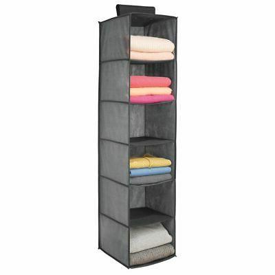 mDesign Fabric Shelves, Pack Dark Gray