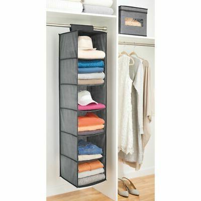 mDesign Rod Shelves, Dark Gray