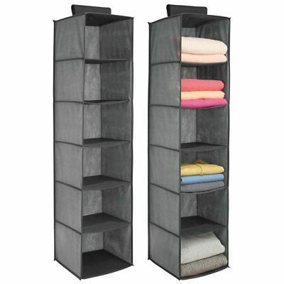 fabric over closet rod hanging organizer 6