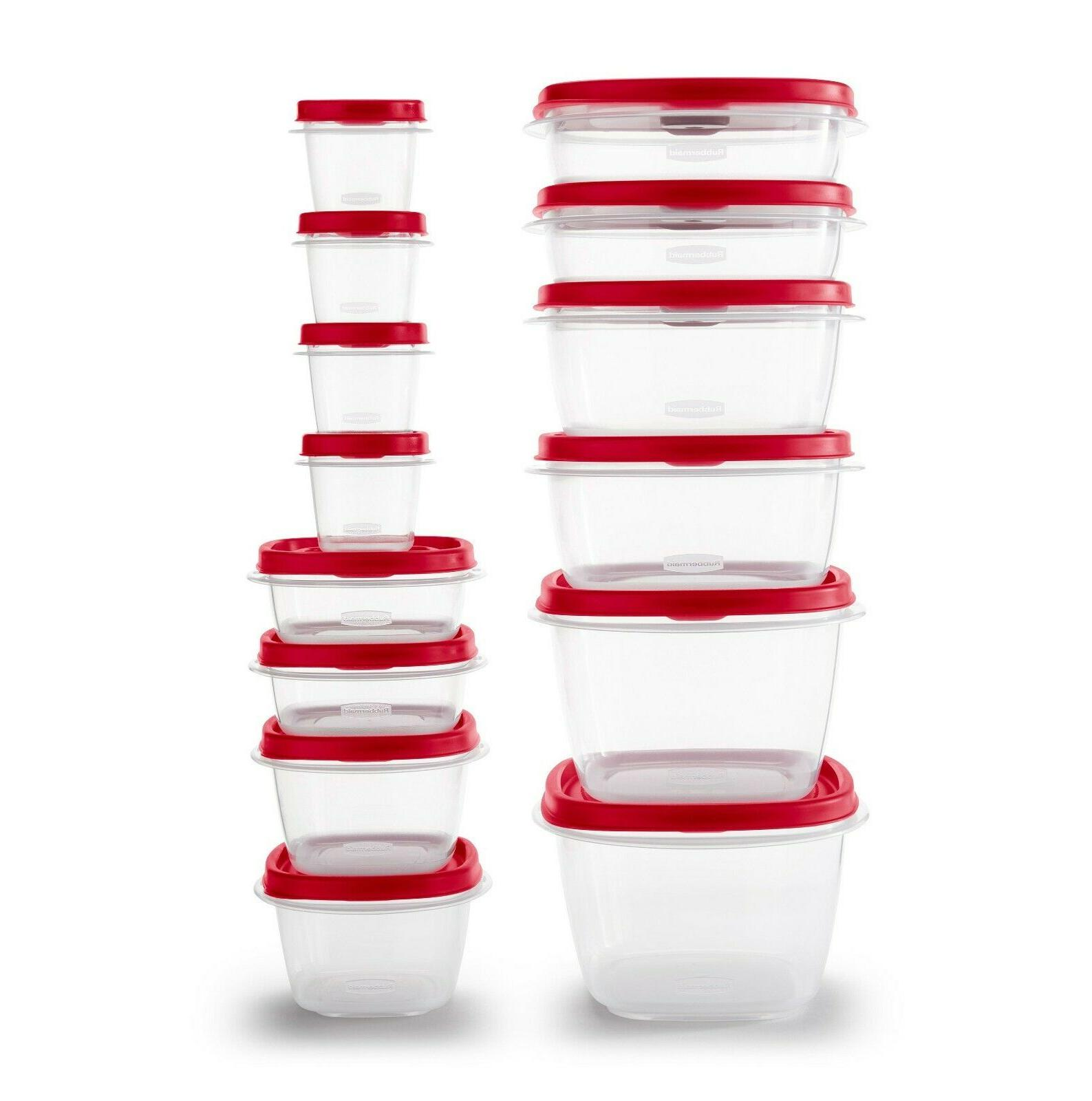 Rubbermaid Food Easy Find Vented Home Kitchen 24 Pieces
