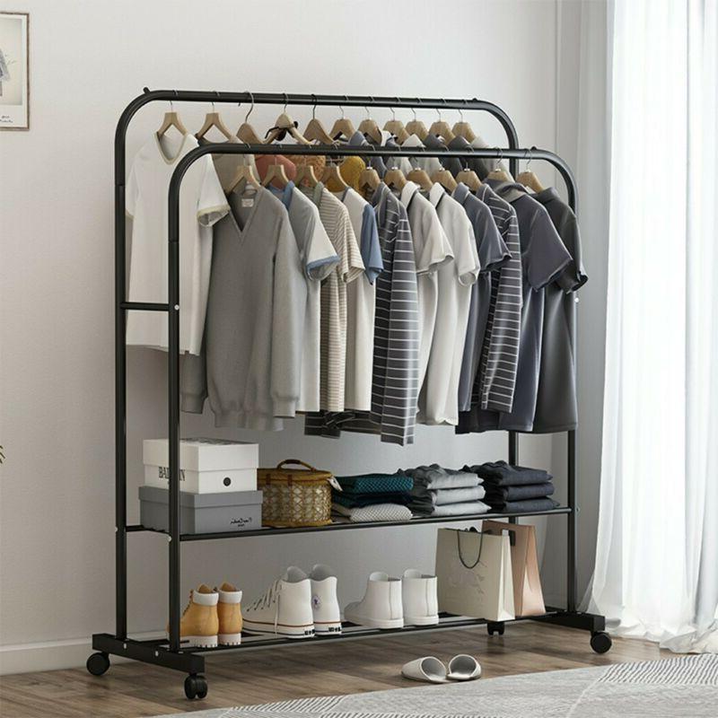 garment rack heavy duty clothes hanger portable