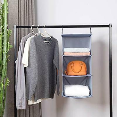 Hanging Closet Mount Foldable 3-Shelf Hanging Closet