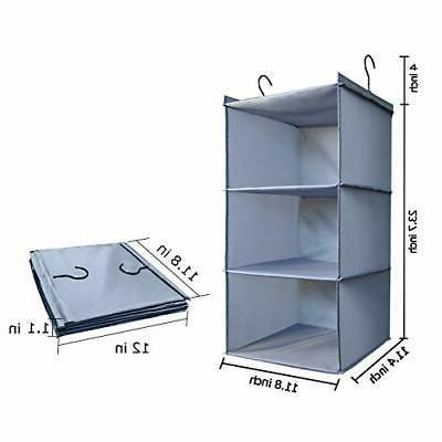 Hanging Closet Organizer, Easy Mount Foldable Closet Wardrobe