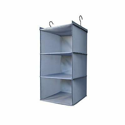 hanging closet organizer easy mount foldable 3