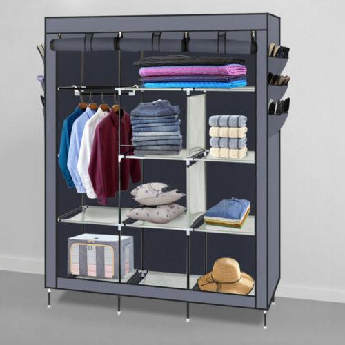 High Quality Wardrobe Rack Organizer w/Shelf