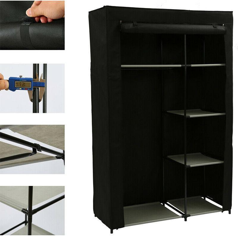 Heavy Duty Portable Storage Organizer Shelf Wardrobe Rack Shelves