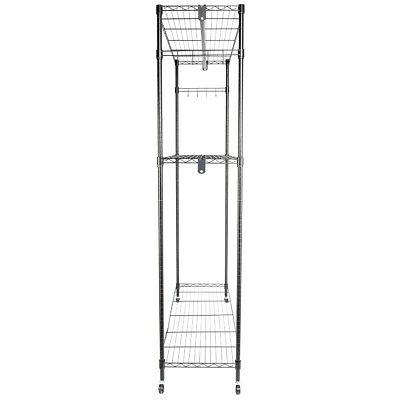 Heavy Rolling Rack Clothes Hanger Rods Portable
