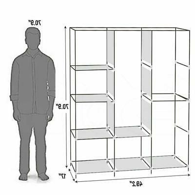 """High 71"""" Clothes Wardrobe Storage Organizer"""