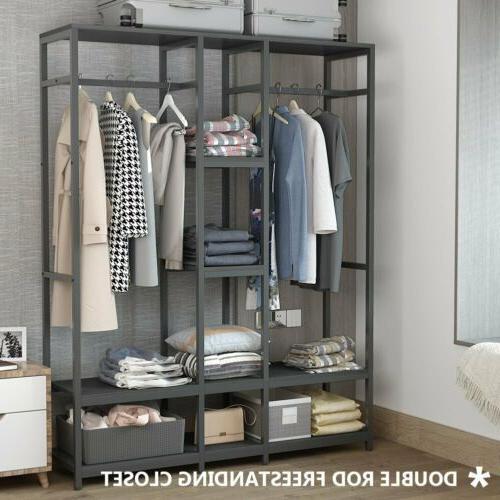 Large Clothes Garment Duty Rod Shelves