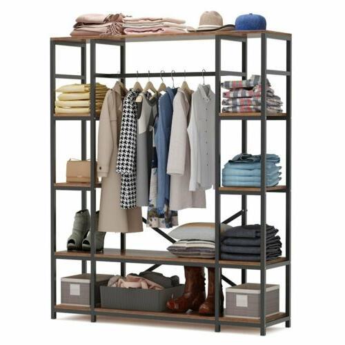 Large Closet Storage Clothes Rack Duty Shelves