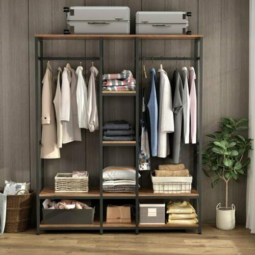 Large Closet Storage Clothes Duty with & Shelves