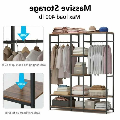 Large Clothes Garment Duty with Rod & Shelves