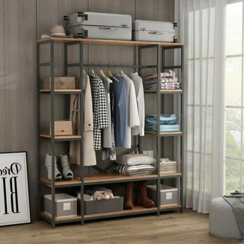 large closet storage wardrobe clothes garment rack