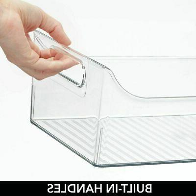 mDesign Long Plastic Drawer Organizer Bin Closets