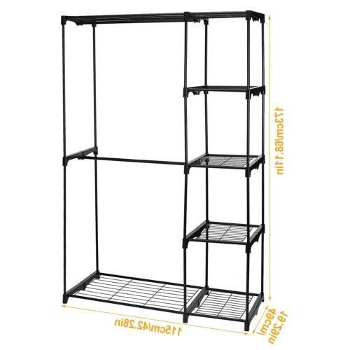 Closet System Shelves Double Rod Storage