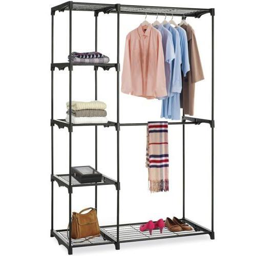 Closet Wardrobe Double Rod Storage
