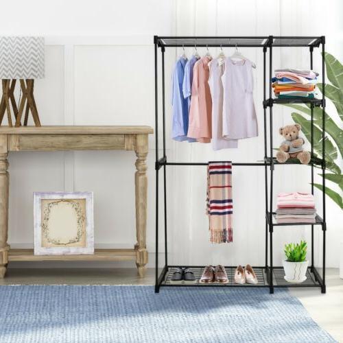 Closet Wardrobe Shelves Double Storage Metal